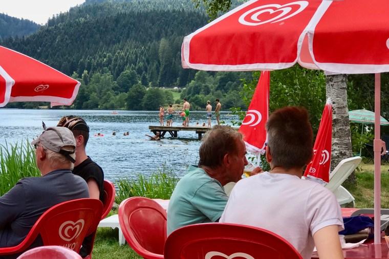 Snack au bord du lac de Longemer