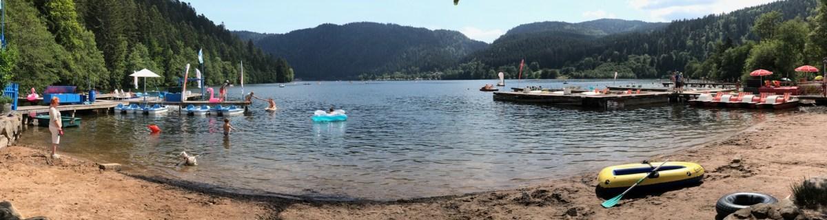 Au lac de Longemer, nature, fraîcheur et baignade.