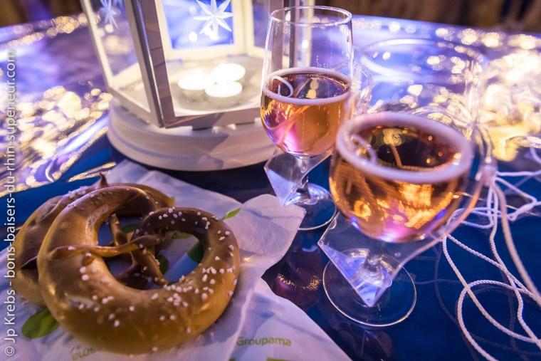 Balade gourmande et nocturne dans le vignoble grand cru du Marckrain à Bennwihr en Alsace : apéritif