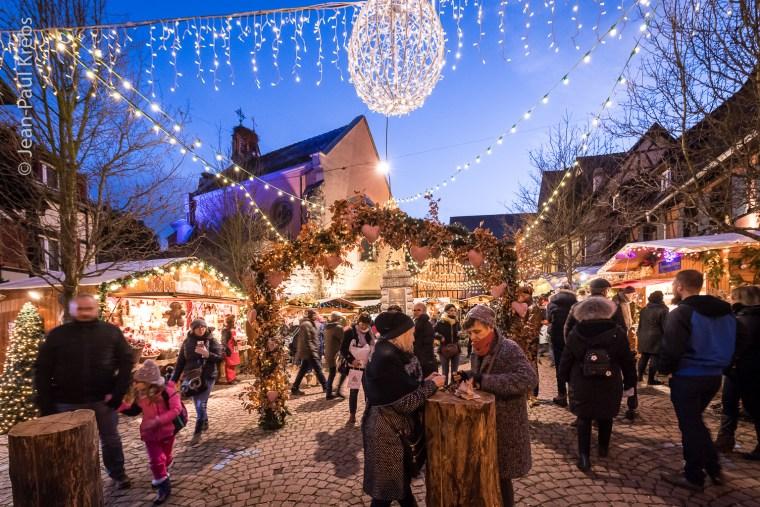 Au marché de Noël d'Eguisheim en Alsace.