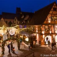 Eguisheim, une soirée au marché de Noël.