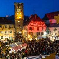 Au marché de Noël médiéval de Ribeauvillé.
