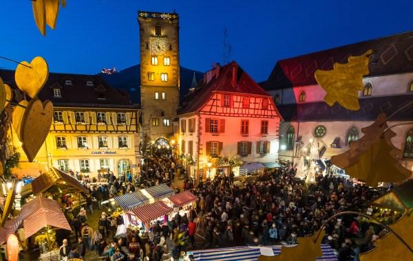 Au marché de Noël de Ribeauvillé en Alsace.