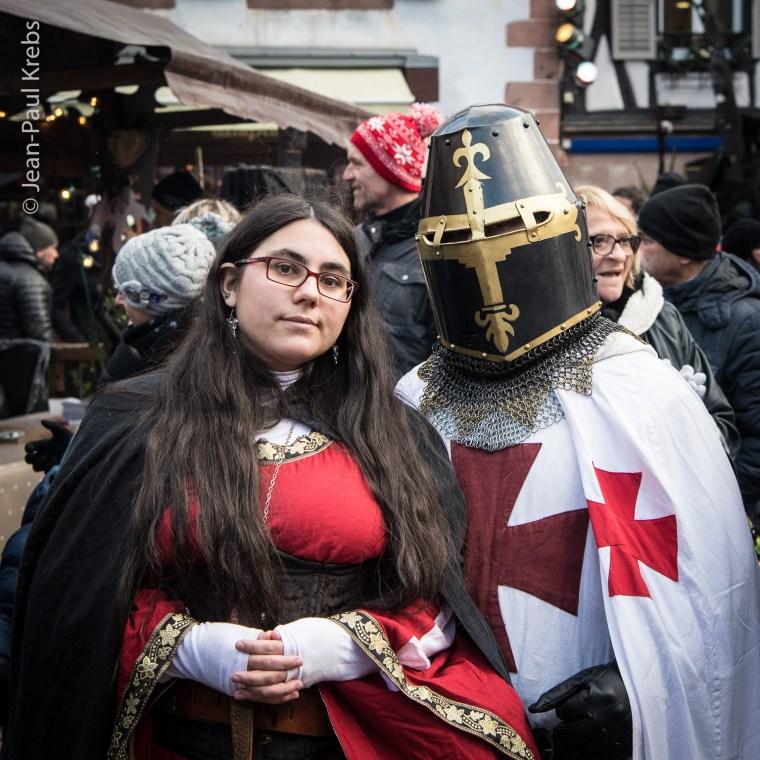 Chevalier et gente dame de passage à Ribeauvillé