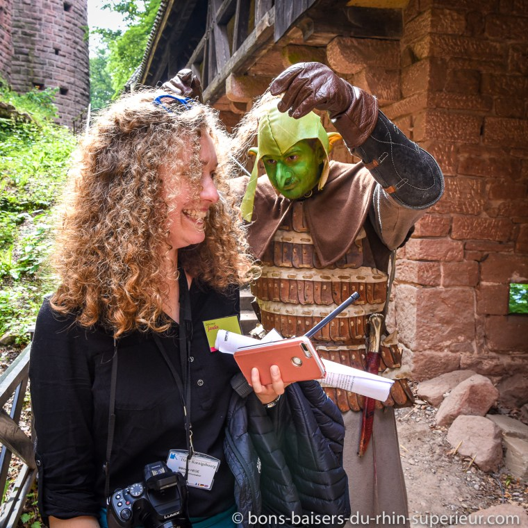 Le troll embête les visiteurs et même le personnel du château du Haut-Koenigsbourg