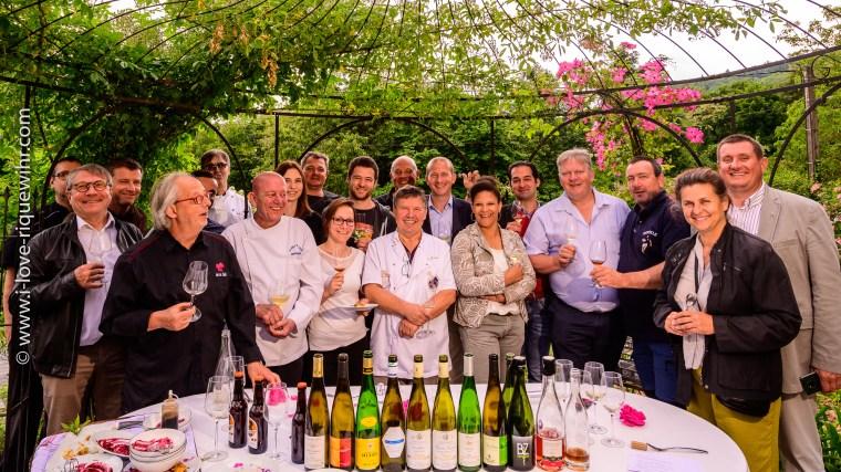 Chefs et vignerons de la Knepfelfacht 2019 à Riquewihr