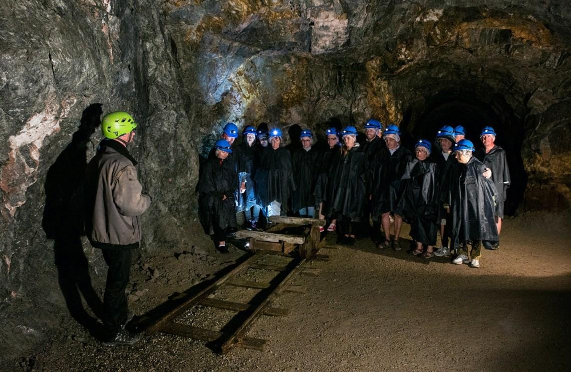Visite de la mine d'argent au Parc Tellure