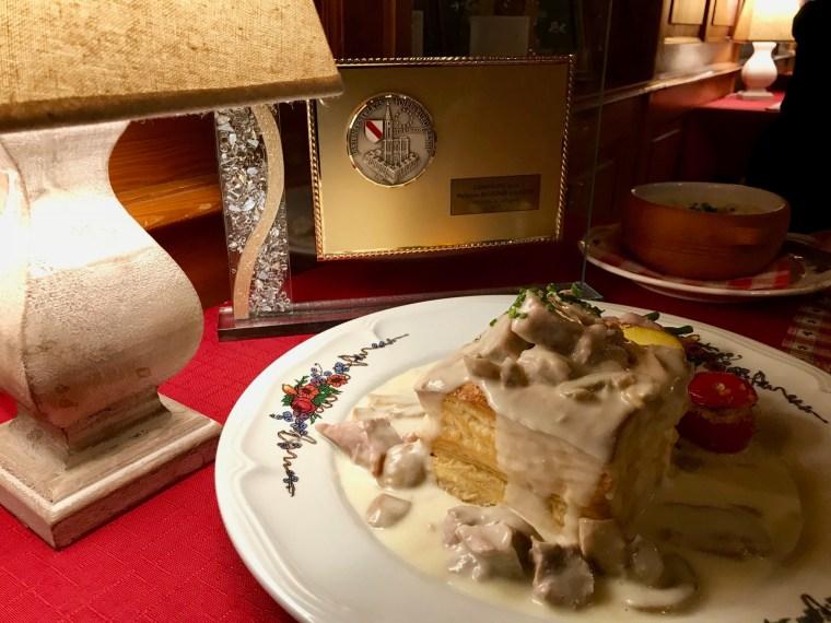 Bouchée à la Reine du restaurant Elisabeth à La Vancelle