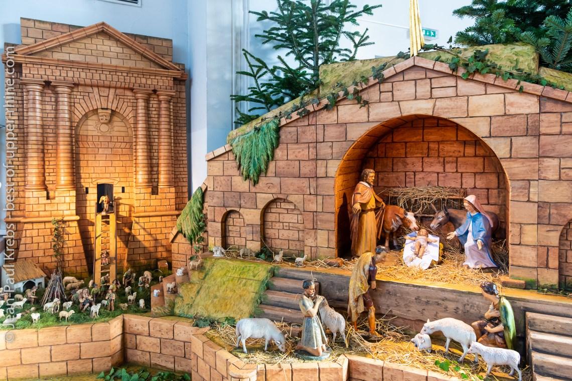 La crèche de l'Eglise de Neuf-Brisach est à voir durant toute la période de l'avent jusqu'à l'épiphanie.
