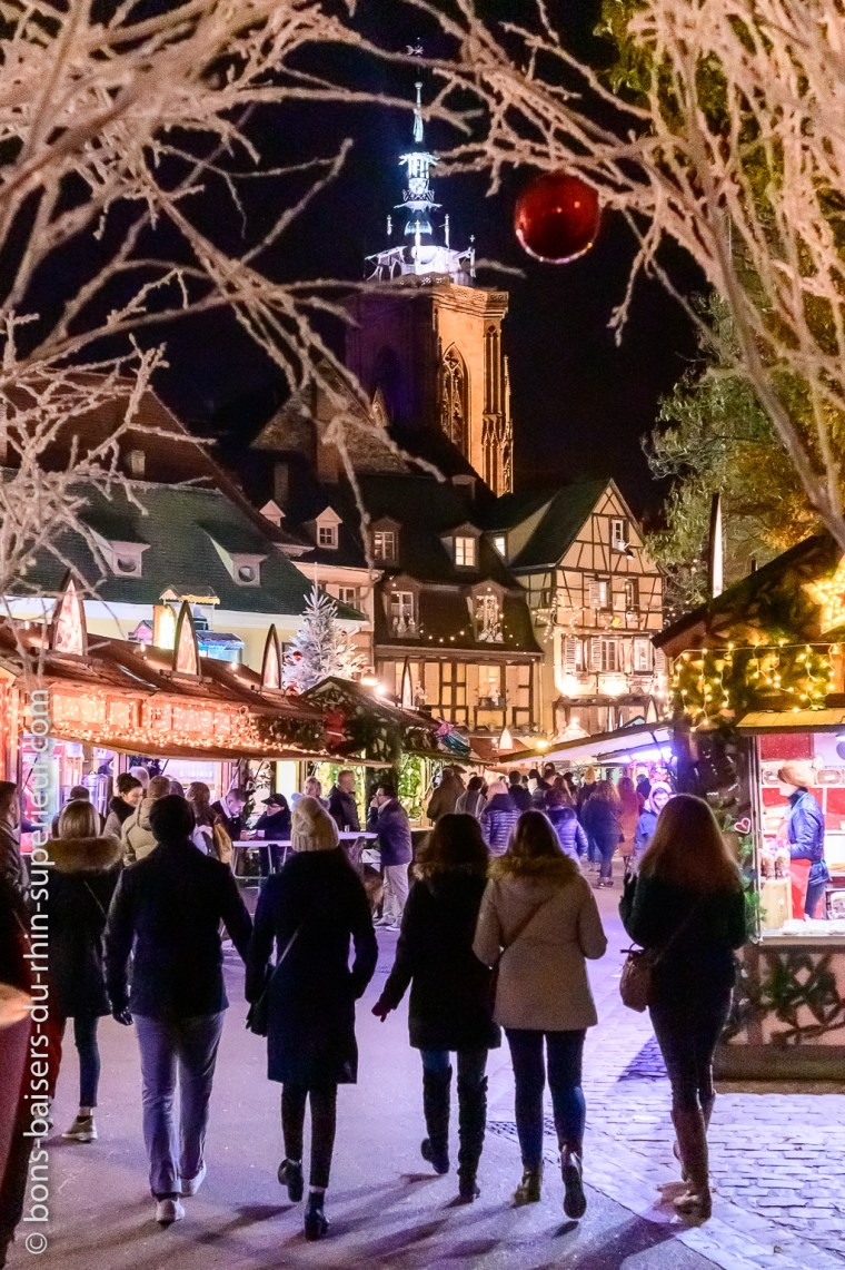 Arrivée au marché de Noël de Colmar