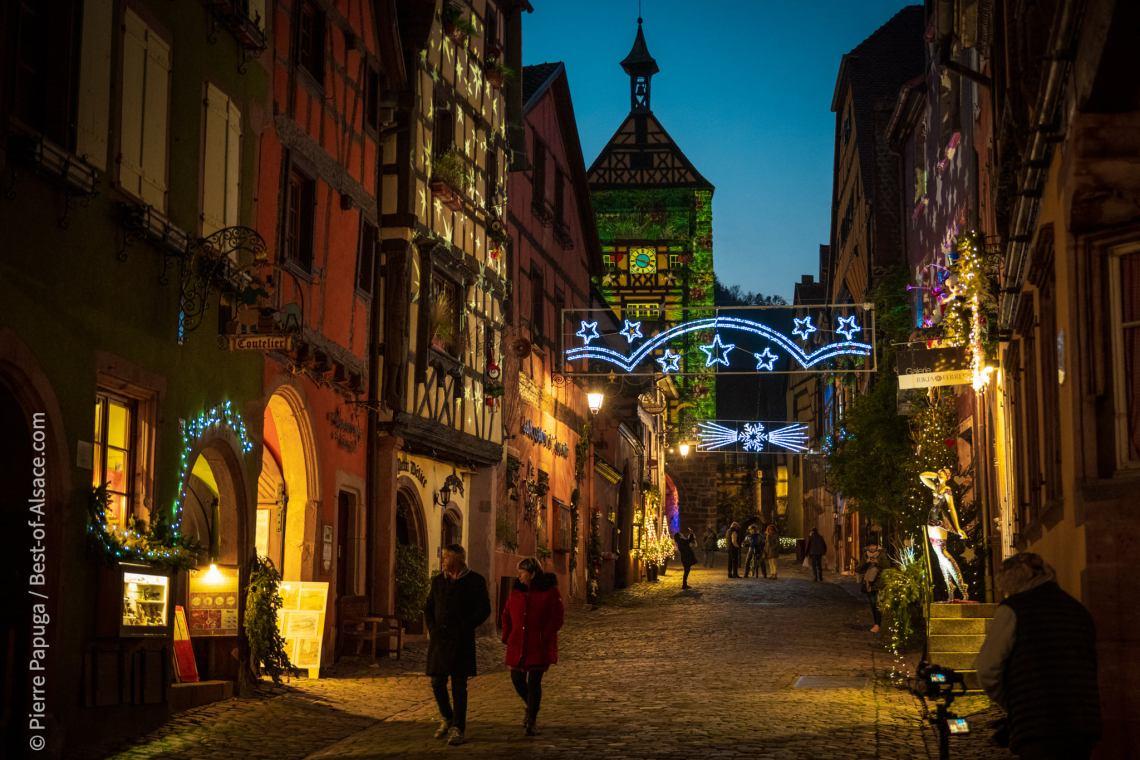 L'ambiance de Noël cette année à Riquewihr