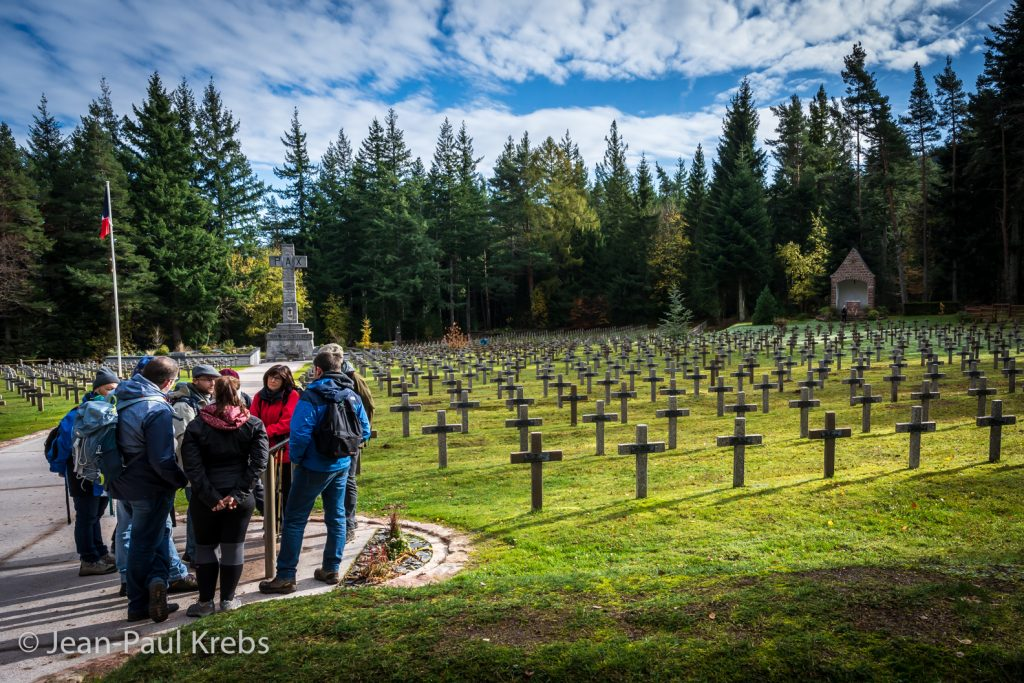 Cimetière de la première guerre mondiale dans les Vosges