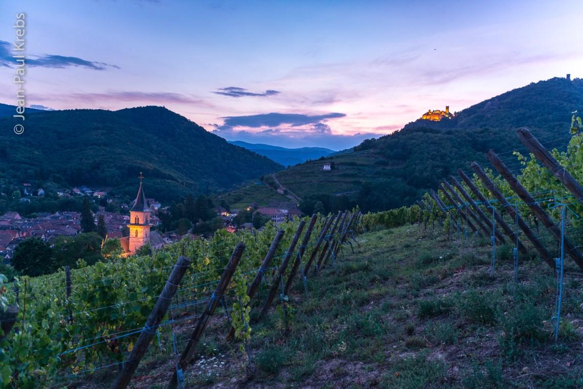 Le village médiéval de Ribeauvillé se trouve à quelques kilomètres de Riquewihr
