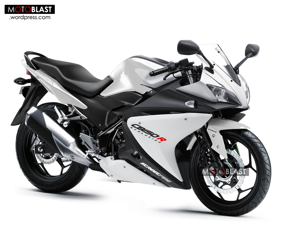 Cb150r black modif fairing r125 white 4