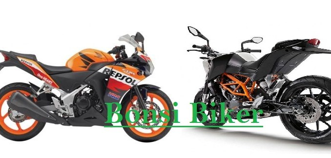 Duke 390 vs CBR 250 Repsol