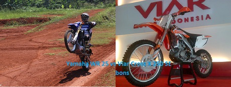Yamaha WR 25 vs Viar Cross X 250 SE