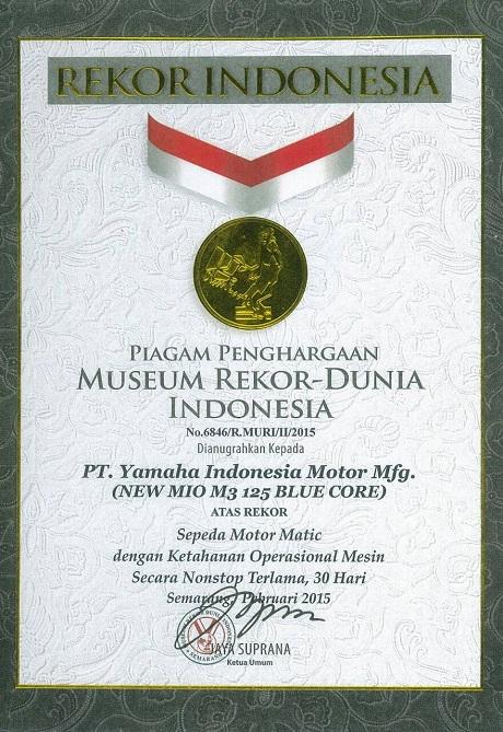 Mio M3 125 Blue Core Masuk Muri