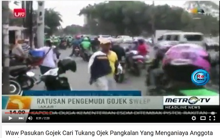 sweeping gojek