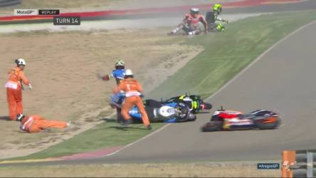 Panen Crash di FP 3 GP Aragon