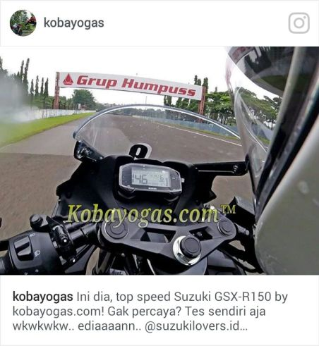 top speed GSX R 150