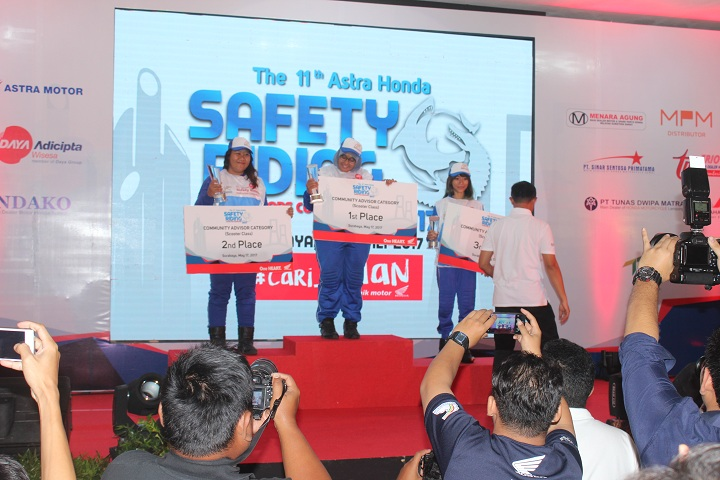 Pemenang Final 11st Astra Honda Safety Riding Instructor Competition (AH-SRIC) 2017