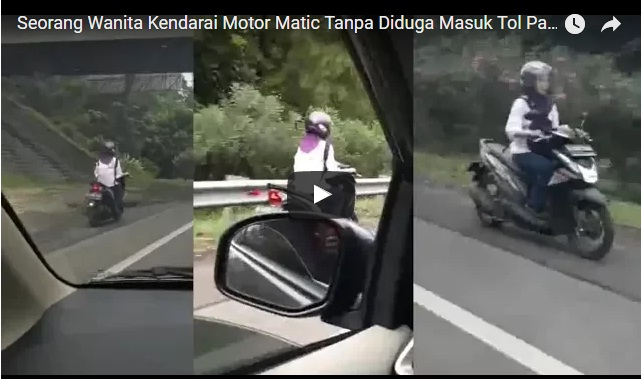 Power Of Emak-emak Dengan Santianya Riding di Jalan Tol