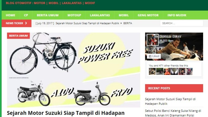 Setting Ulang Website Bonsai Biker