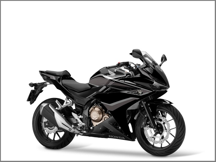 2018 CBR500R Graphite Black, Silver Stripe