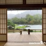 [日本庭園]雨天的天龍寺
