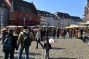 Place de la cathédrale à Fribourg