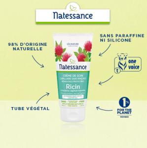 Test de la Crème de Soin Capillaire sans rinçage Ricin de Natessance.
