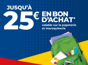 25€ en bons d'achat chez Carrefour