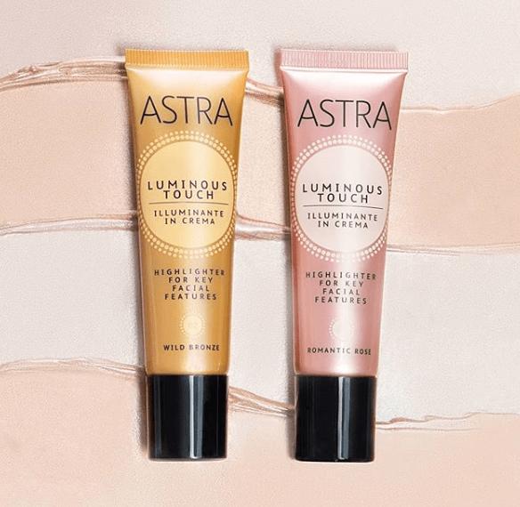 Test highlighter crème Luminous Touch de la marque Astra Make-up ( Gouiran Creative )