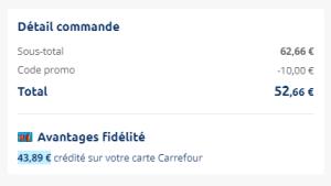 14 flacons de gel douche Mon Savon et 3 bidons de 3l de lessive LE CHAT pour 8.77€ chez Carrefour !