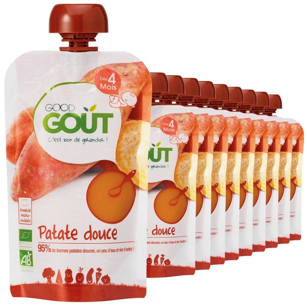 Lots de 10 gourdes good goût à 8.75€