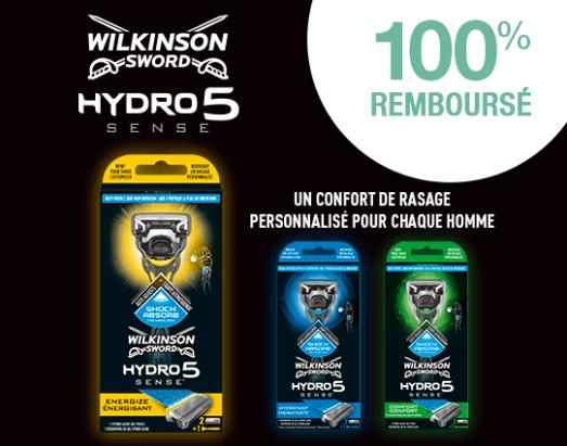 Read more about the article 100% remboursé sur l'achat d'un rasoir Wilkinson Hydro 5 Sense