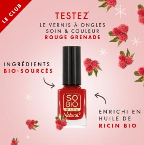 Test du vernis à ongles Rouge Grenade SO'BiO étic®!