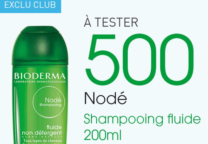 Test Nodé  shampooing fluide Bioderma