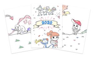 Read more about the article Calendrier personnalisé 2020 à colorier gratuit