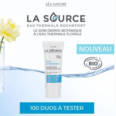 Test  duo soin + toilette visage de LA SOURCE Eau Thermale Rochefort® ( beauté-test )