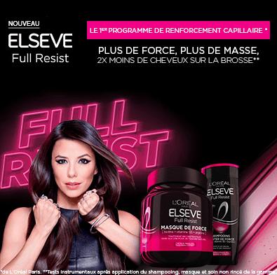 Test du  Programme de Renforcement Capillaire Elseve Full Resist de L'Oréal Paris ( Beauté Test )