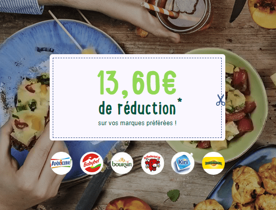 13.60€ de réduction sur le fromage