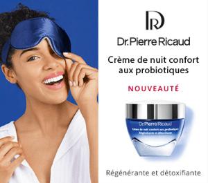 Test de la crème de nuit confort probiotiques de Dr Pierre Ricaud