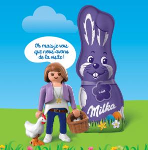 Read more about the article 3 produits Milka Pâques = une figurine Playmobil