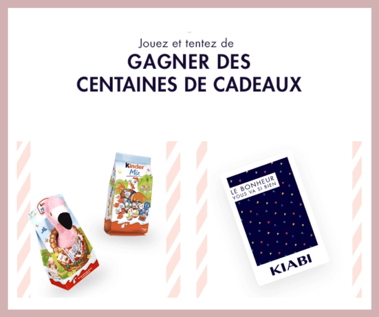 Read more about the article Instant gagnant Kiabi et Kinder