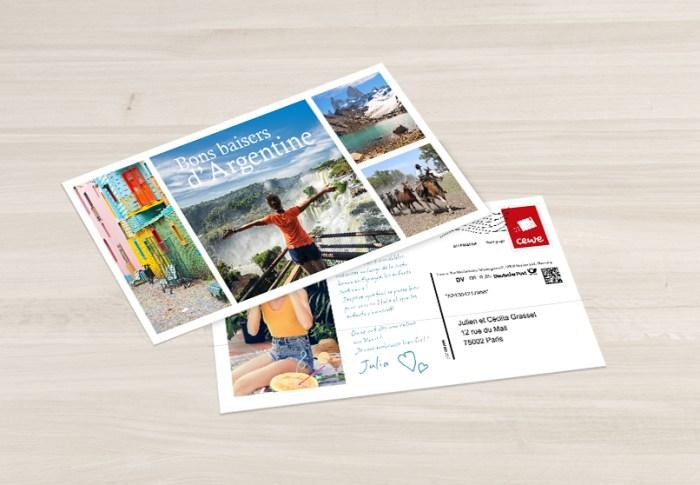 Carte postale à envoyer gratuitement avec CEWE