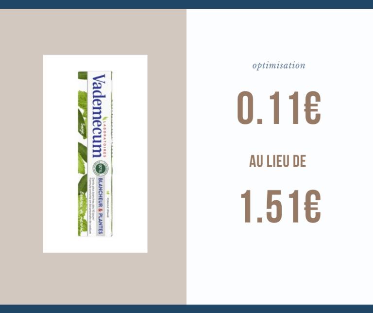 Read more about the article Optimisation du jour : dentifrice Vademecum