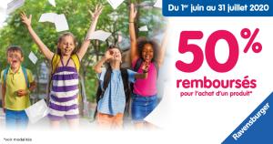 Offre Ravensburger : 50% remboursés