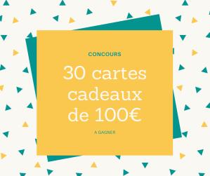 Concours : 30 cartes cadeau prépayée MasterCard de 100€ à gagner