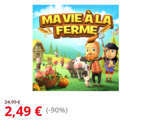 Bon plan :  Ma vie à la ferme au prix de 2.49€ au lieu de 24.99€ sur WiiU ou 3DS